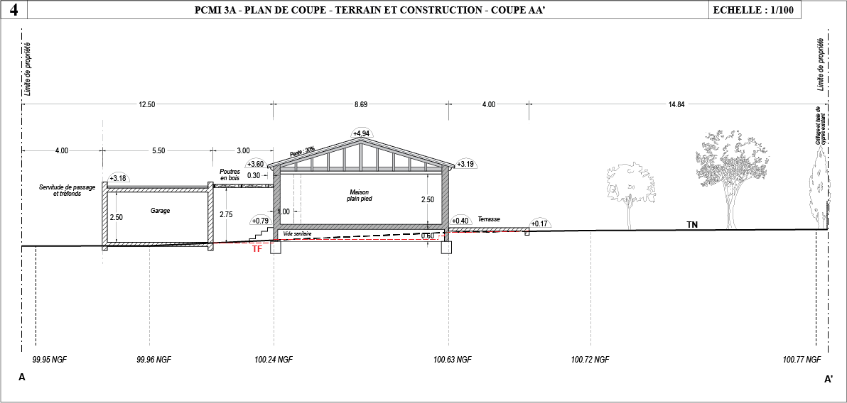 Composition for Plan coupe maison